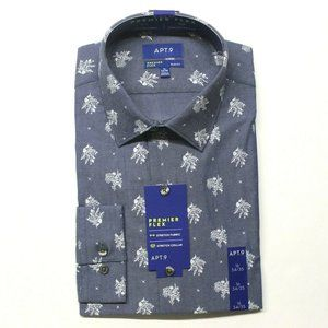 Apt. 9 Premier Flex Slim Dress Shirt - L 16, 34/35